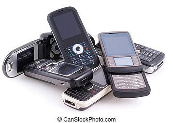 mobil, hög, phones.