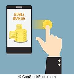 mobil, internet bankrörelse
