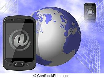 mobil, internet