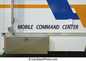 mobil, kommando, centrera