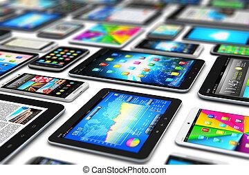 mobil, nymodig, enheter