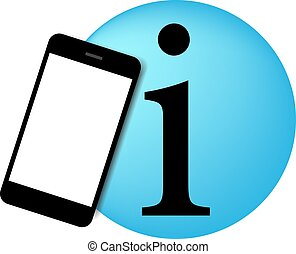 Mobil phone informations illustrati