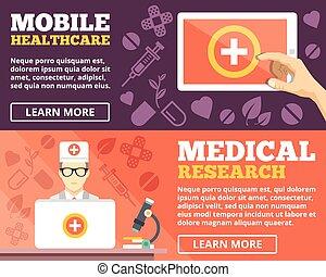 mobil, sjukvård, läkar forska