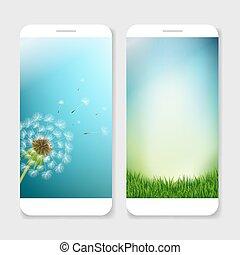 mobil, smartphones, mall