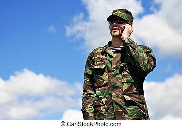 mobil, soldat