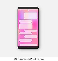 mobil, textmeddelande, ringa