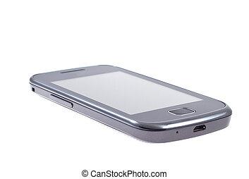 mobil, toucha, isolerat, ringa, avskärma