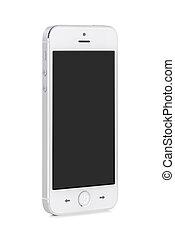 mobile, écran, moderne, téléphone, vide, blanc, intelligent