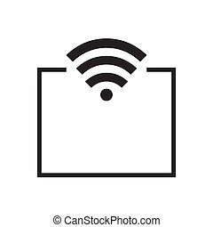 mobile access point icon. vector design illustration..