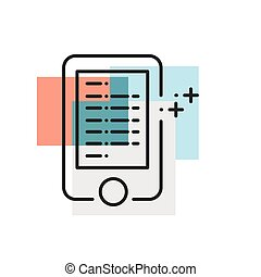 Mobile Advertisement, marketing icons Flat Color