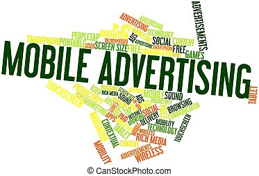Mobile Advertising - Abstract word cloud for Mobile...