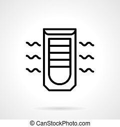 Mobile air conditioning black line vector icon - Mobile air...
