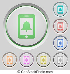 Mobile alarm push buttons