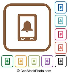 Mobile alarm simple icons