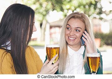 mobile, amis, groupe, téléphone