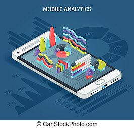 mobile, analytics, concept