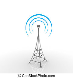 mobile, antena., communication, concept