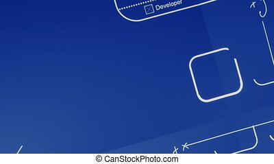 Mobile App Development Blueprint - Concept animation showing...