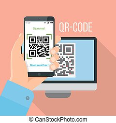 Mobile app for scanning QR-code.