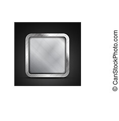 Mobile app icon - empty metallic texture box