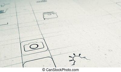 mobile, app, sviluppo, concetto