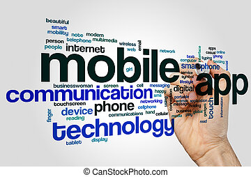 Mobile app word cloud