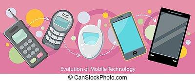 mobile, appartamento, evoluzione, disegno, tecnologia