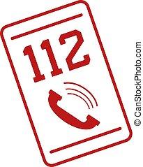 mobile, appeler, 112
