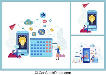 Mobile Application for Business Vector Concept