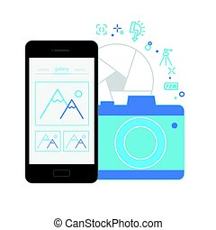 Mobile Application Interface, Camera