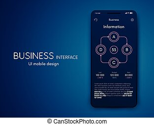 Mobile application interface. Ui design, stock vector