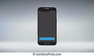 mobile, application, téléchargement