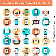 Mobile Applications - Abstract vector collection of colorful...