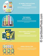 Mobile Applications - Smartphone with columns rated mobile ...
