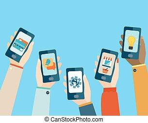 Mobile apps set