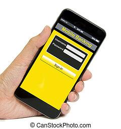 mobile, bancario, concetto