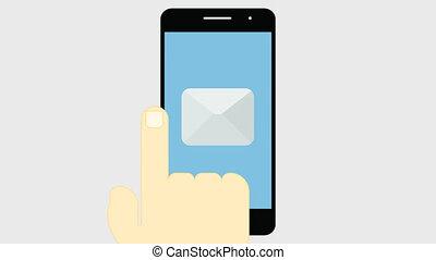 Mobile banking. 2D animation 4K