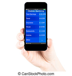 Mobile banking in smartphone