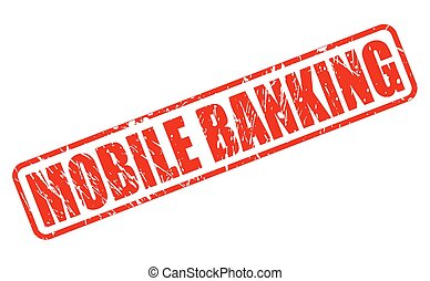 Mobile banking red stamp text