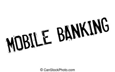 Mobile Banking rubber stamp