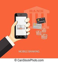 mobile, banque
