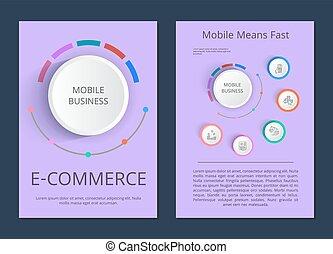 Mobile Business E-commerce Vector Illustration