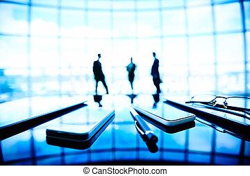 Mobile business - Image of eyeglasses, pen, cellular phones...