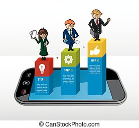 Mobile Business infographic concept