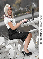 Mobile Business Woman
