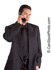 Mobile Call - Young Businessman Speaking On A Cell Phone