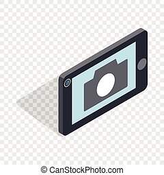 Mobile camera isometric icon