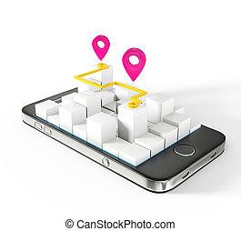mobile, carte