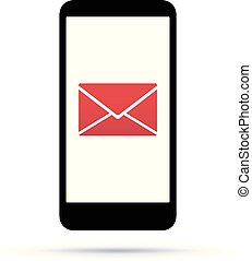 Mobile cell phone in an envelope