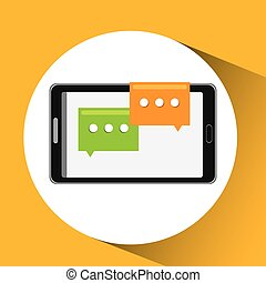 mobile cellphone social chat icon